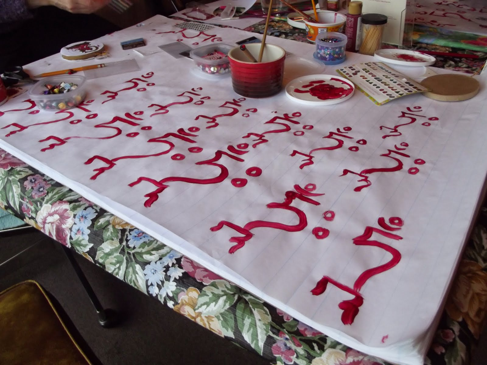 sacred syllable painting