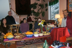 house retreat with tsok offering
